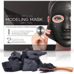 Voesh Facial Modeling Mask - Activated Charcoal 10 Sets