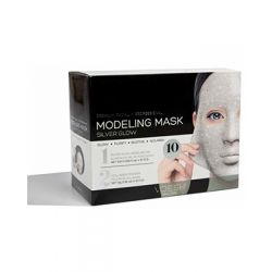 Voesh Facial Modeling Mask - Silver Glow 10 Sets
