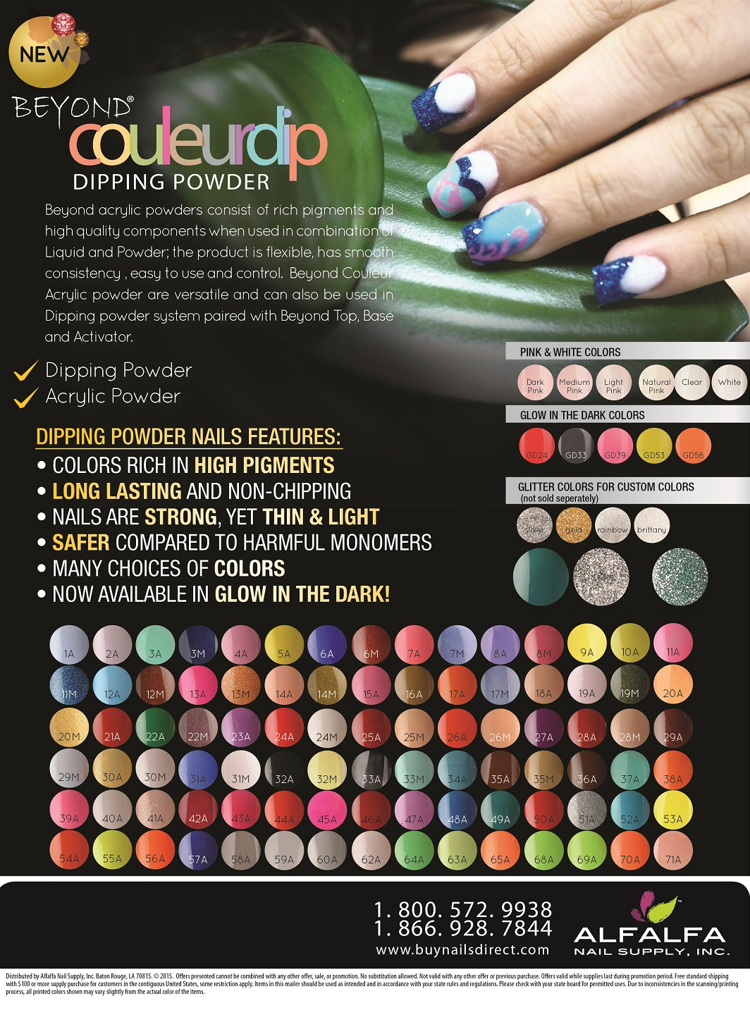 Chisel Dipping Powder Color Chart