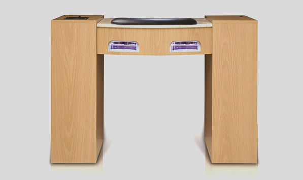 Ultimate Exhaust Manicure Table with UV Gel Lights