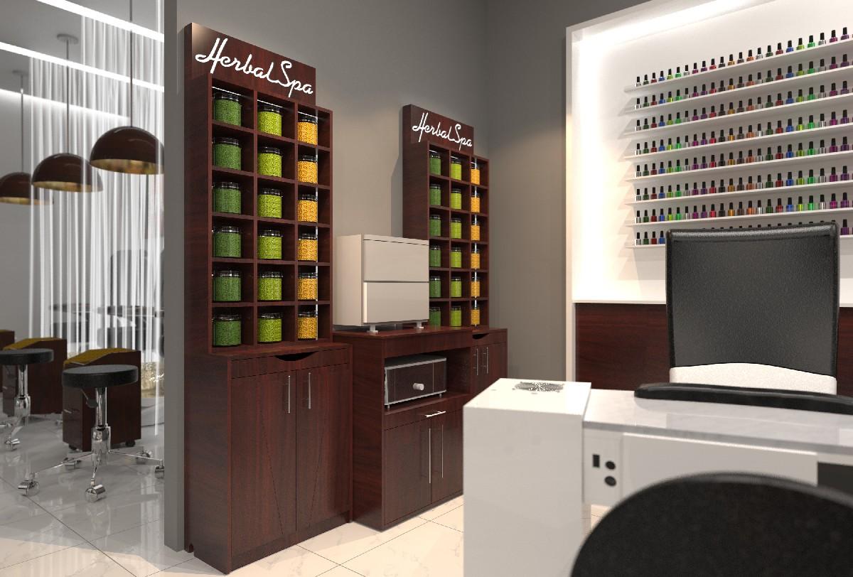 Mini LED Herbal Display Cabinet