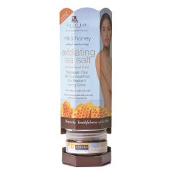 Cuccio Sea Salt Moisturizing Exfoliant Milk & Honey Display