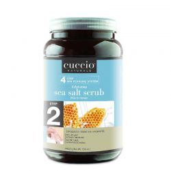 Cuccio Step 2 Exfoliating Sea Salt Scrub Milk & Honey 156oz