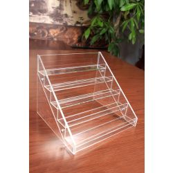 Nail Polish Organizer Display Acrylic Step Rack (30 Bottles)