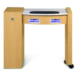 Classic Space Saver Manicure Table with UV Gel Lights