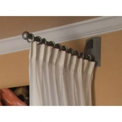 Silver Metal Salon Drapery Rod