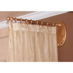 Gold Wooden Salon Drapery Rod
