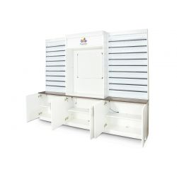 DreaMau Machine Cabinet - Set of 3 Display - White