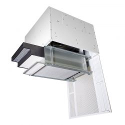 HealthyAir Ceiling Mount Source Capture Air Purification System Dual Inlet Outside Vent White, w/ LED