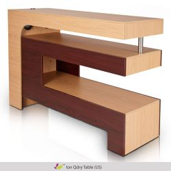 Ion QDry Nail Table - Dou Tone Oak/Mahogany