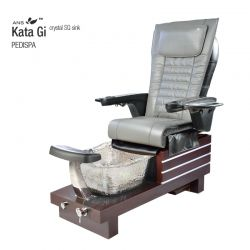 ANS Kata-Gi Mahogany Pedicure Spa with Crystal Square Sink
