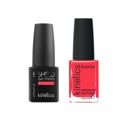 Kinetics - Shiled Gel and SolarGel Polish Duo Expensive Pink 281