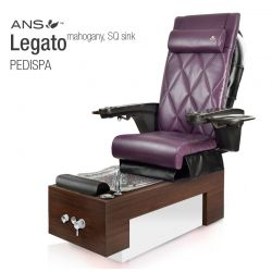 Legato Columbian Walnut Square Sink with ANS16 Massage Chair