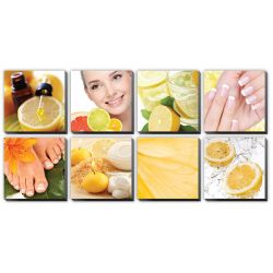 "Citrus Ensemble Canvas Mural 48""x96"""