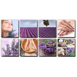 "Lavender Fields Ensemble Canvas Mural 48""x96"""