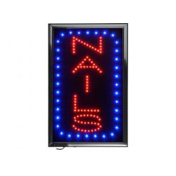 "Vertical Nails LED Sign (15"" x 23.6"")"