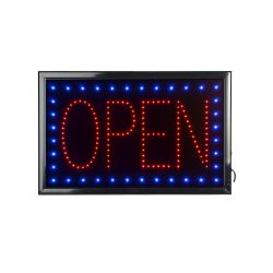 "Rectangular LED Open Sign (15"" x 23.6"")"