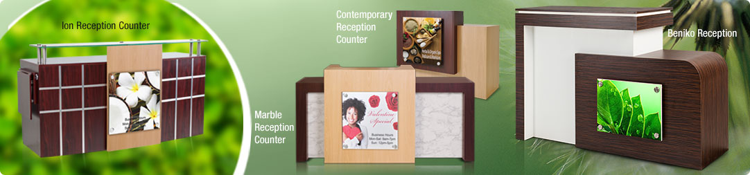Reception Counters & Showcases
