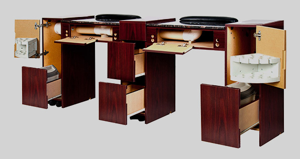 IMC Double Vented Manicure Table